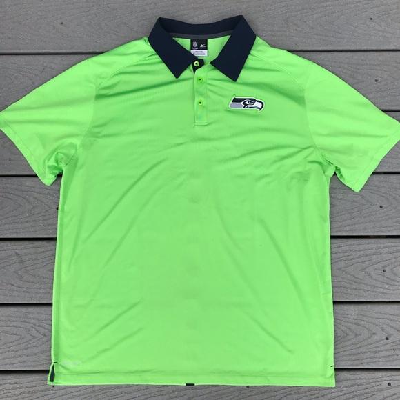 Nike Other - Nike Seattle Seahawks Dri Fit Polo Shirt 2XL Green